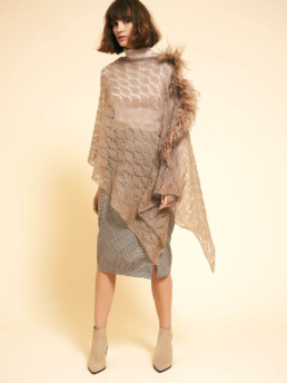 Feather Fringe Poncho