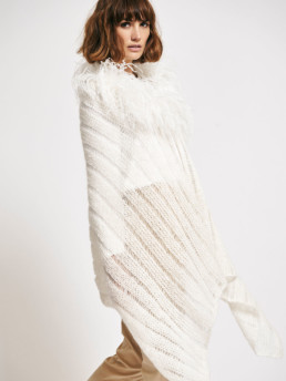 Fluffy Feather Cape